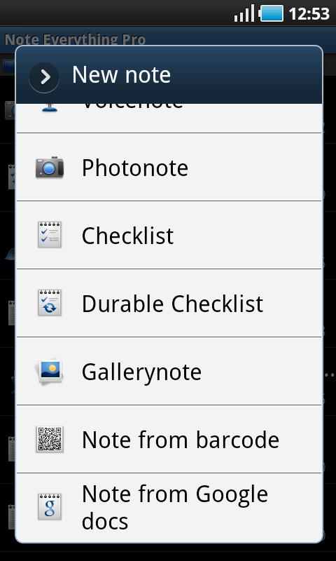 Note Everything записи в записной книжке