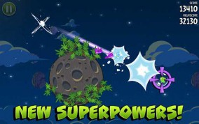 Angry Birds Space враг будет поражен