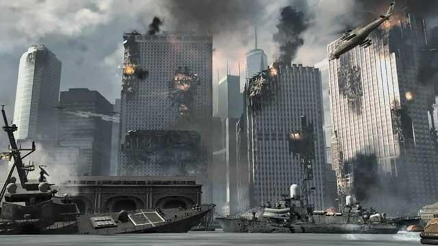 Call of Duty Modern Warfare 3 русский флот после обстрела ракетами с подлодки