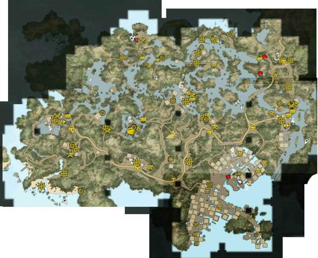 Dead Island Карта Локации Затопленные джунгли