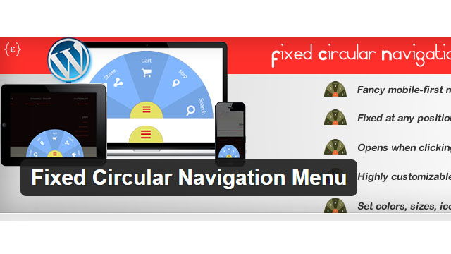 Fixed Circular Navigation Menu