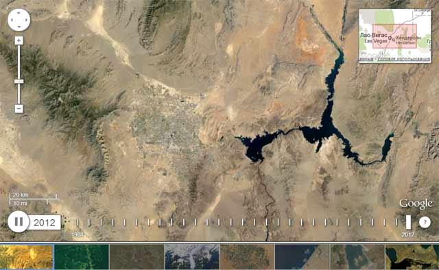 Google map во времени