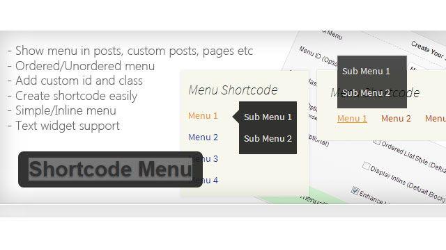 Shortcode Menu для WordPress