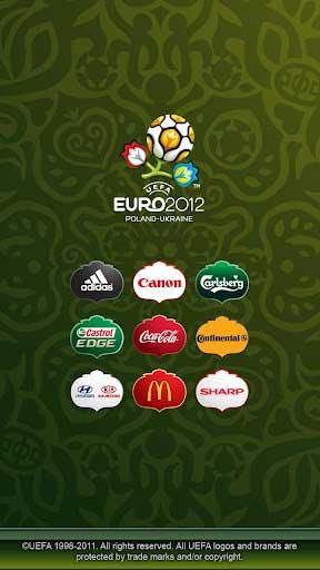 UEFA EURO 2012 главный экран