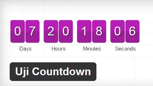 Uji Countdown Обратный отсчет на Wordpress