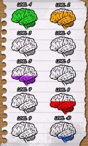 Brain Jiggle для Android, выбор сложности задания