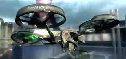 Четырехроторный боевой дрон из игры Call of Duty: Black Ops 2