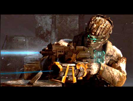 Dead space 3 gameplay мощная пушка