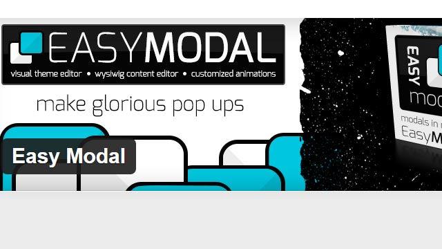 Easy Modal модальное окно для Wordpress