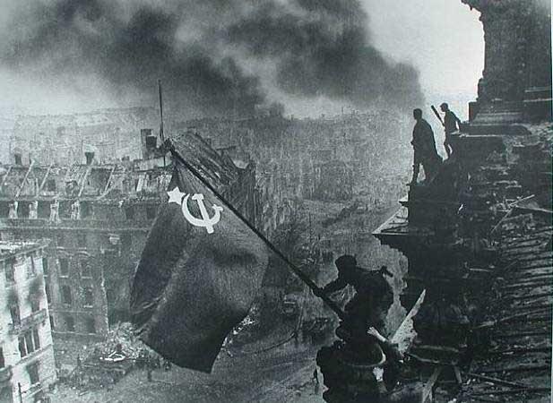 Красное знамя победы над рейхстагом