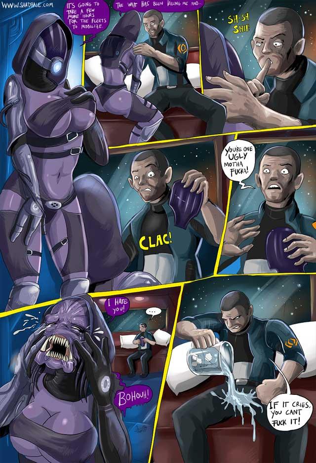 Mass Effect Комикс Тали и Шепард