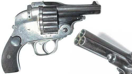 Револьвер с тремя стволами вид сбоку