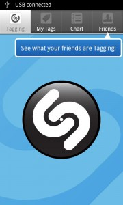 Главный экран Shazam. Определяет мелодию на Android.