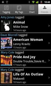 Список музыки. Shazam. Определяет мелодию на Android.