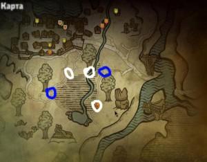 Карта гнезд эндриаг и нор накеров