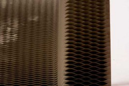 Ячеистый картон - материал кресла гармошки